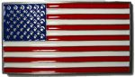 USA Flag Stars and Stripes Belt Buckle + display stand. Code CK8
